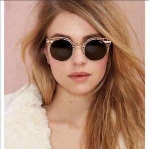 QUAY Fleur Rose Gold Frame Sunglasses NEW